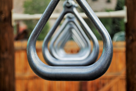 Link to resources for students and parents.  Image of playground hand-over-hand bars.