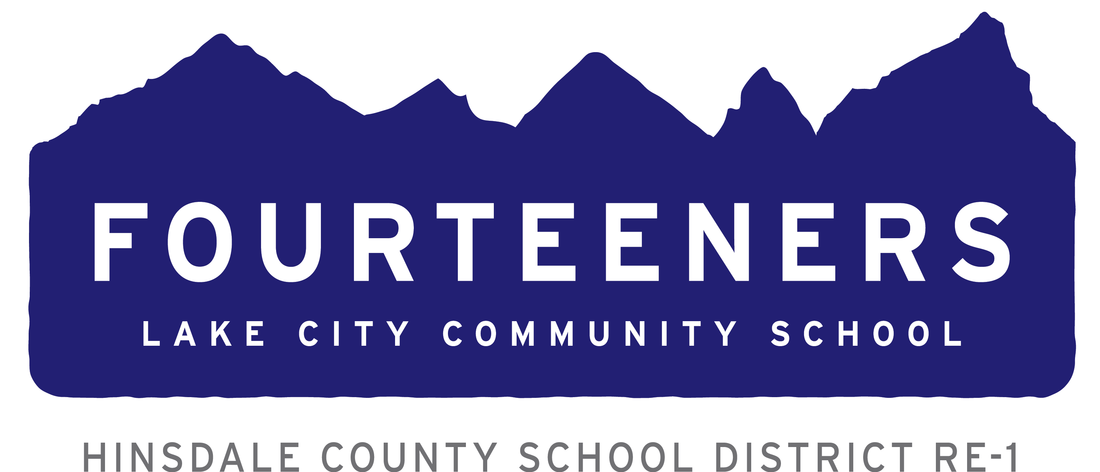 Link to home page of site.  Image of school fourteeners logo.