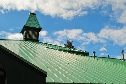 Link to School District section.  Image of school cupola.