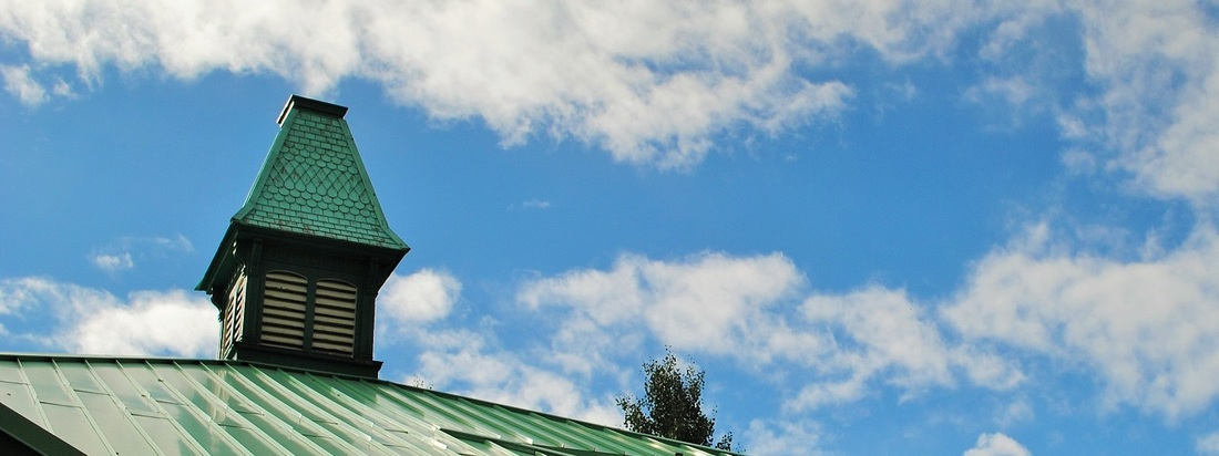 Hinsdale County School District RE-1 Board of Education.  Photo of school cupola.